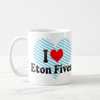 I love Eton Fives Classic White Coffee Mug
