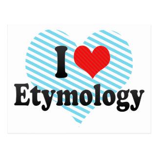 I Love Etymology Postcard