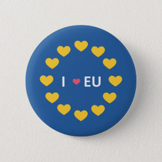 I love EU badge - remain voters in the referendum Button