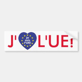 I love EU! Bumper sticker in French.