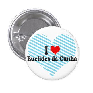 I Love Euclides da Cunha, Brazil Pinback Button