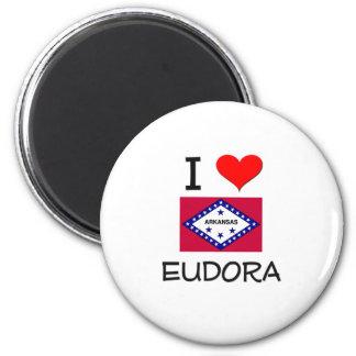 I Love EUDORA Arkansas 2 Inch Round Magnet