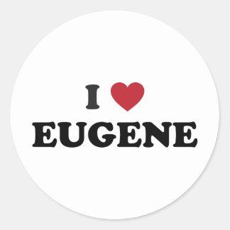 I Love Eugene Oregon Stickers