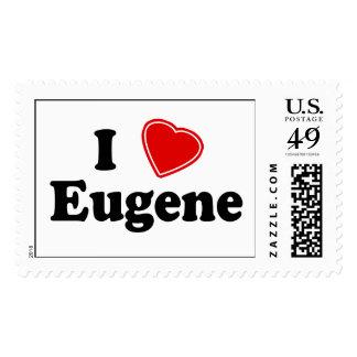 I Love Eugene Postage Stamps