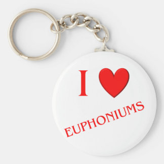 I Love Euphoniums Keychains
