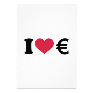 I love Euro money Invitations