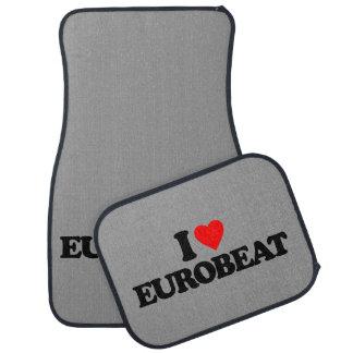 I LOVE EUROBEAT CAR FLOOR MAT