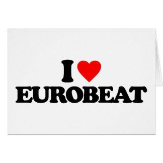 I LOVE EUROBEAT CARD