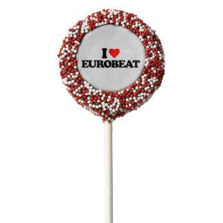 I LOVE EUROBEAT CHOCOLATE DIPPED OREO POP
