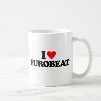 I LOVE EUROBEAT COFFEE MUG