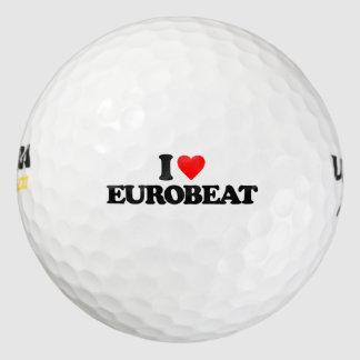 I LOVE EUROBEAT GOLF BALLS