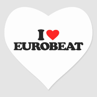 I LOVE EUROBEAT HEART STICKER