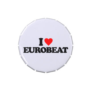 I LOVE EUROBEAT JELLY BELLY CANDY TIN