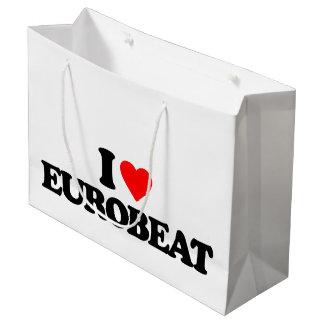 I LOVE EUROBEAT LARGE GIFT BAG