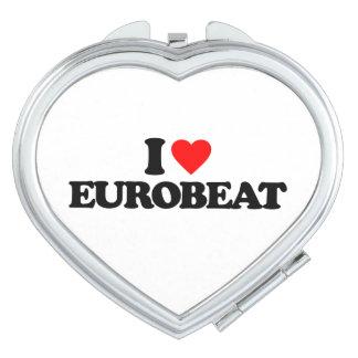 I LOVE EUROBEAT MAKEUP MIRROR