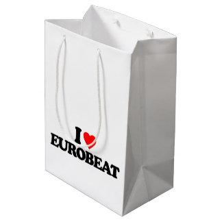 I LOVE EUROBEAT MEDIUM GIFT BAG
