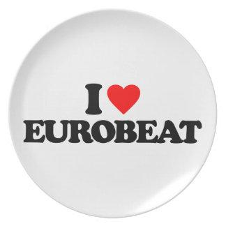 I LOVE EUROBEAT MELAMINE PLATE