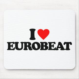 I LOVE EUROBEAT MOUSE PAD