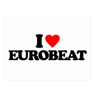 I LOVE EUROBEAT POSTCARD