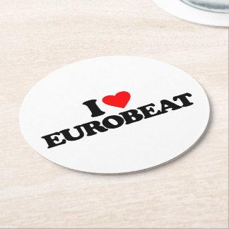I LOVE EUROBEAT ROUND PAPER COASTER