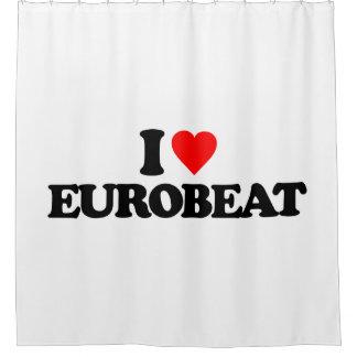 I LOVE EUROBEAT SHOWER CURTAIN