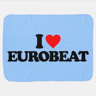 I LOVE EUROBEAT SWADDLE BLANKET