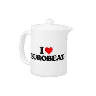 I LOVE EUROBEAT TEAPOT