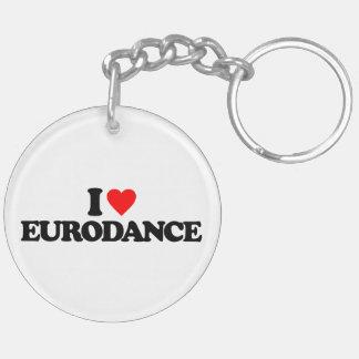 I LOVE EURODANCE KEYCHAIN