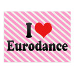 I Love Eurodance Postcards