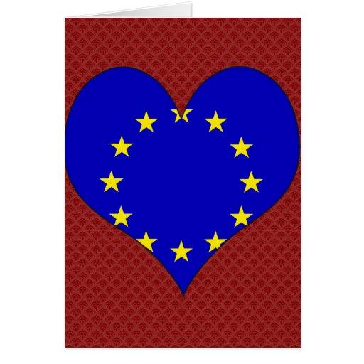 I Love Europa Greeting Card