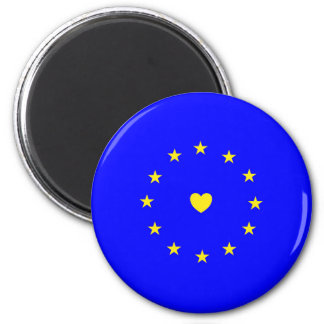 I Love Europe EU Flag with Heart Magnet