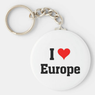 I love Europe Keychain