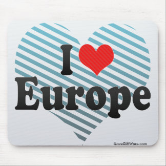 I Love Europe Mouse Pad