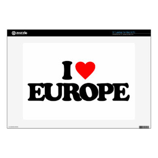 I LOVE EUROPE DECALS FOR LAPTOPS