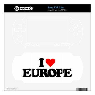 I LOVE EUROPE SKINS FOR PSP SLIM