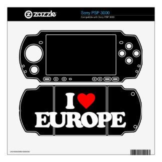 I LOVE EUROPE SONY PSP 3000 DECAL