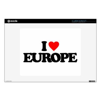 I LOVE EUROPE SKINS FOR LAPTOPS