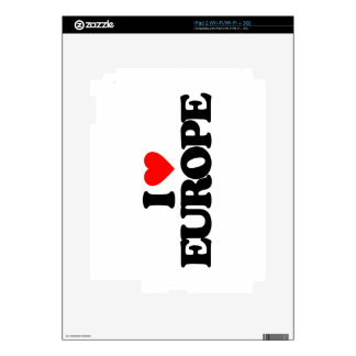 I LOVE EUROPE iPad 2 SKINS