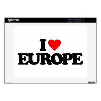 I LOVE EUROPE ACER CHROMEBOOK SKIN