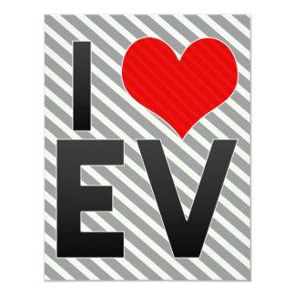 """I Love EV 4.25"""" X 5.5"""" Invitation Card"""