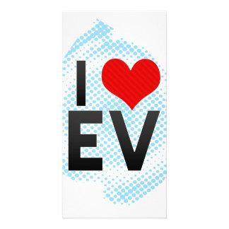 I Love EV Personalized Photo Card