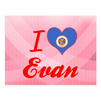 I Love Evan, Minnesota Postcards