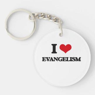 I love EVANGELISM Single-Sided Round Acrylic Keychain