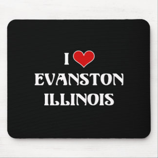 I Love Evanston, Illinois Mouse Pad