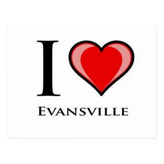 I Love Evansville Postcard
