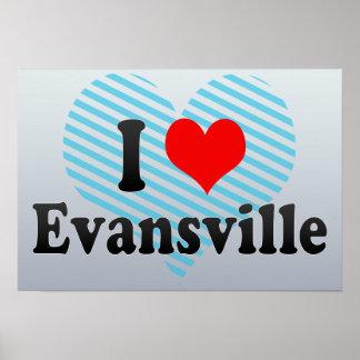 I Love Evansville, United States Print