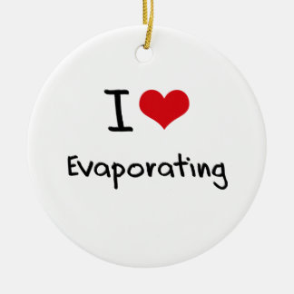 I love Evaporating Double-Sided Ceramic Round Christmas Ornament