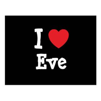 I love Eve heart T-Shirt Postcard