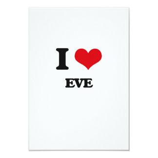 """I love EVE 3.5"""" X 5"""" Invitation Card"""