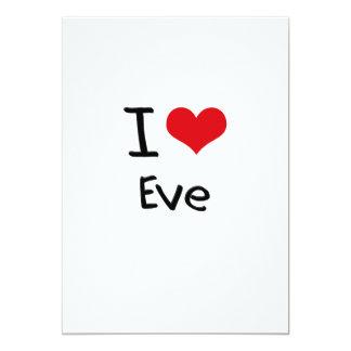 """I love Eve 5"""" X 7"""" Invitation Card"""
